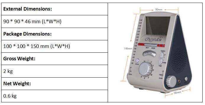 EN 71 Part 1 Electronic metronome
