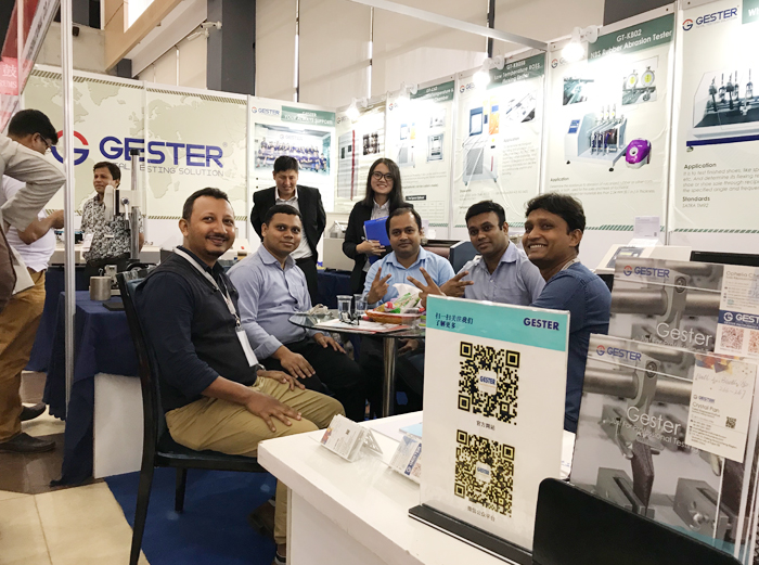 gester in exhibition - leather testing equipment