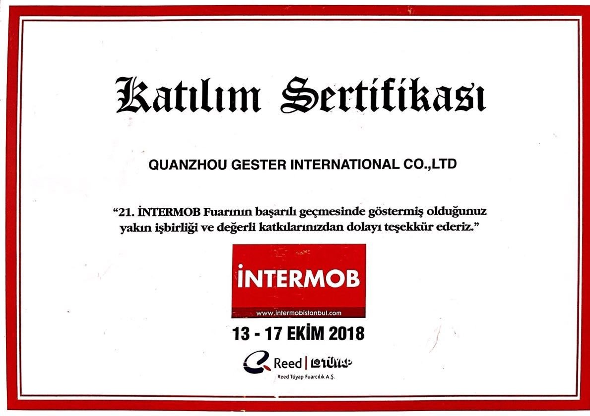 INTERMOB Exhibition GESTER In Turkey