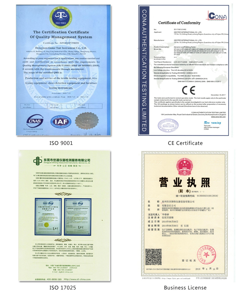 GESTER CE and ISO 9001 Certificates